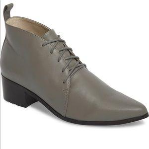 Grey City Waverly  Leather Low Block Heel Bootie